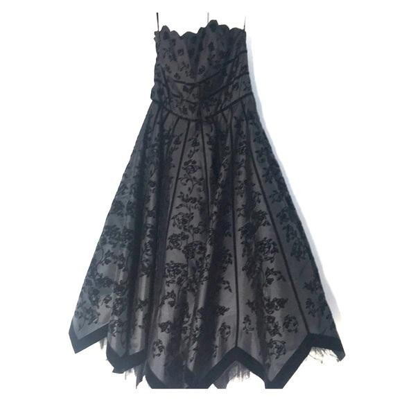 Betsey Johnson Dresses & Skirts - Betsy Johnson Black Strapless Evening Collection